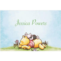 Piglet Napping on Pooh Custom Baby Shower Thank You Note