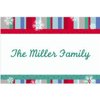 Cool Winter Stripe Custom Thank You Note