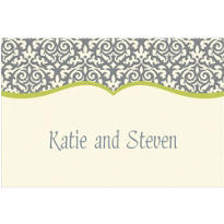 Fancy Finish Lime Custom Thank You Note
