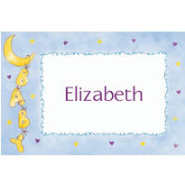 Moon & Stars Custom Baby Shower Thank You Note