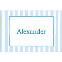 Blue Stripe Custom Baby Shower Thank You Note