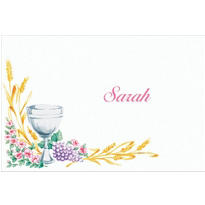 Communion with Flowers Custom Thank You Note