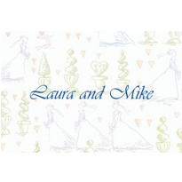Wedding Procession Toile Custom Thank You Note