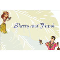 Luau Couple Custom Wedding Thank You Note