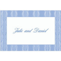 Periwinkle Ocean Waves Stripe Custom Thank You Note