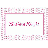 Bachelorette Pink Looping Stripe Custom Thank You Note