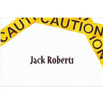 Caution Tape Custom Thank You Note