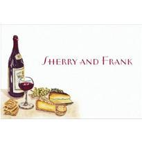 Wine, Cheese & Grape Vines Custom Thank You Note