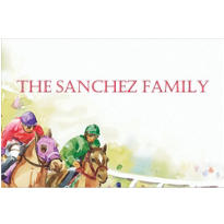 Racehorses Custom Thank You Note
