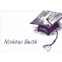 Mortarboard Sketch Custom Thank You Notes