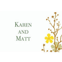 Brilliant Blooms & Branches Custom Thank You Note