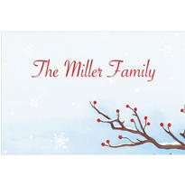 Serene Winter Branch Custom Thank You Note