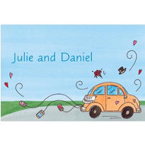 Just Married Getaway Car Custom Thank You Note
