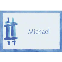 Torah with Border Masculine Custom Thank You Note