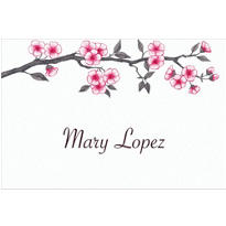 Blooming Branches Custom Thank You Note