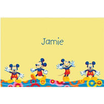 Mickey Mouse Poses Custom Thank You Note