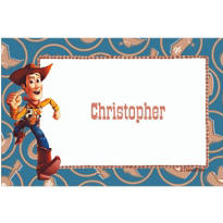 Woody on Cowboy Border Custom Thank You Note