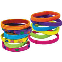 Multi Color Elastic Wristbands 12ct