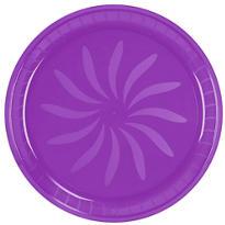 Purple Swirl Plastic Platter