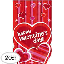 Valentines Day Treat Bags 20ct