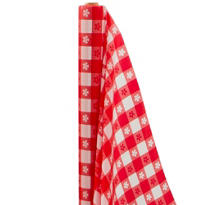 Red Gingham Plastic Table Cover Roll