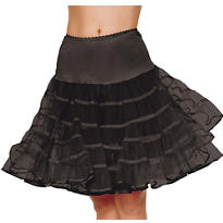 Adult Black Knee Length Petticoat
