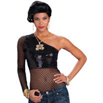 Black Sequin Hip Hop Top