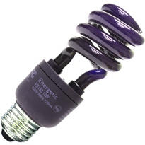 Black CFL Light Bulb