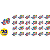 Balloon Fun Happy Birthday Glasses 24ct