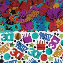 Dots & Stripes 30th Birthday Confetti