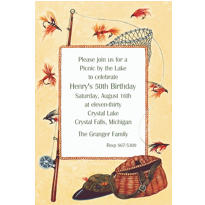 Fly-Fishing Gear Custom Invitation