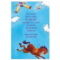 Bucking Bronco Custom Invitation