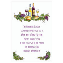 Wine and Cheese Custom Invitation