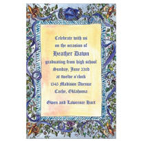 Graduation Scrollwork Custom Invitation