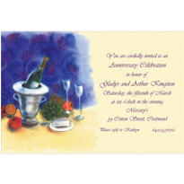 Still Life with Wine Custom Invitation