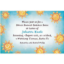 Summer Sun Custom Invitation