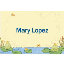 Happy Frogs Custom Baby Shower Thank You Note
