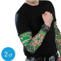 St. Patrick's Day Tattoo Sleeves 2ct