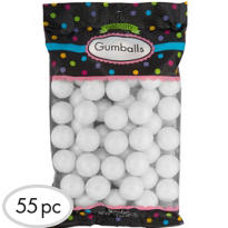 Pearl White Gumballs 55pc