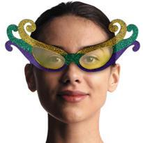 Fleur De Lys Mardi Gras Glasses
