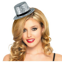 Silver Mini Hollywood Top Hat
