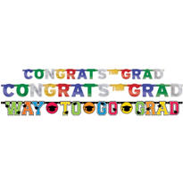 Multicolor Graduation Banners 3ct