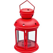 Red Lantern with Glass