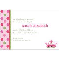 Little Princess Custom Birth Announcement