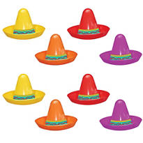 Fiesta Mini Plastic Sombrero Headbands 8ct<span class=messagesale><br><b>50¢ per piece!</b></br></span>