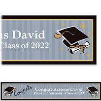 Grad Honors Custom Graduation Banner 6ft