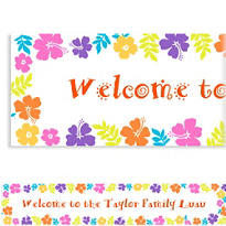 Hibiscus White Custom Banner 6ft