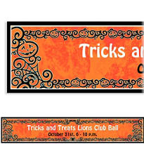 Gothic Greetings Custom Halloween Banner 6ft