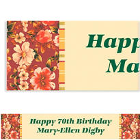 Custom Classic Red Floral Banner 6ft