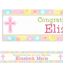 Sweet Christening Girl Custom Banner 6ft